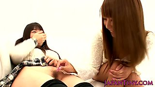 Tiny japanese babes fingered and fucked