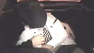 Taxi porn voyeur action from lewd couple in darkness
