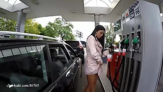 Natalia naked - gas station - car washes
