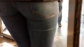 Nice ass in  jeans secret filming