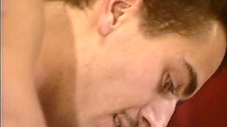 Spoiled aroused blondie gets fanalucked in sideways pose from behind