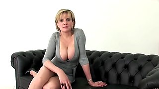 Unfaithful british milf lady sonia displays her big melons