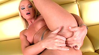 Kathia Nobili loves to get naughty and finger her pink pussy hard