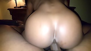 Riding daddy dick with the pussy and the ass