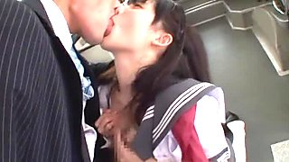 Mao Kurata naughty schoolgirl has huge hooters