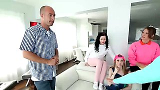 Hot babysitters Kayla and Layla sacrifice their sweet teen pussies