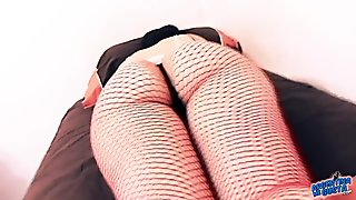 Best Internet Ass Tiny Waist In Fishnet Body Suit n Thong