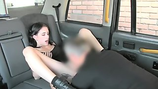 Pretty woman gets her tight asshole rammed by fake driver