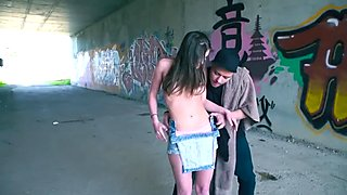 SWEET UNINHIBITED RUSSIAN TEEN EVELINA DARLING EATS CUM IN WILD OUTDOOR SEX