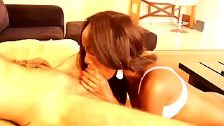 Young african ebony teen blowjob cum in mouth