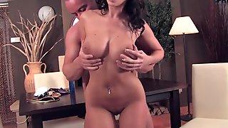 Kneading Cindy's tits