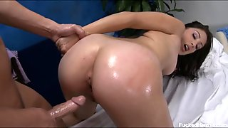 Jerking off beautys vagina turns her into a whore