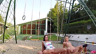Jemma Valentine and Lauren drilled hard in the park