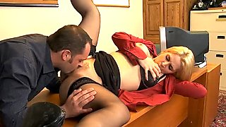 Hot and steamy foreplay with Sarah Vandella at her workplace