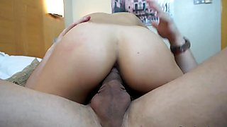 Slut Latina gets pounded hard by a powerful Cock
