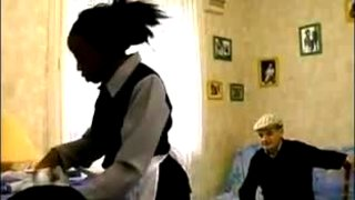 Old Man Catches Maid with BF
