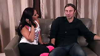 Cocksucking milf gagging while facefucked