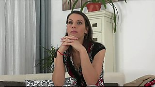 Auditioning euro fucked by agent on couch
