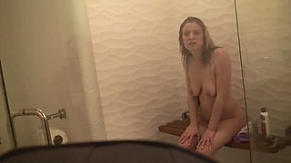 Stepsister fucked in the shower