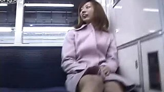 Insatiable Japanese slut Haruka Kawamura opens her coat exposing naked body right on the street