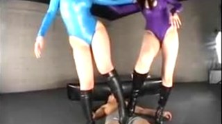 Kinky Japanese sluts in boots getting nailed