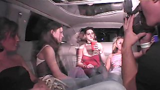 Limo Ride Home with Party Sluts