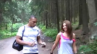 Horny dudes doggydrill one nasty  picked up Russian girl in the park