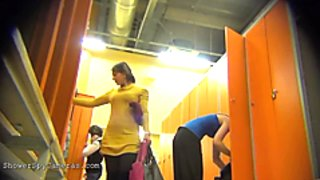 Naked girls in the locker room of the fitness club 0172