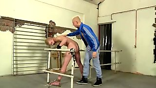Amazing twinks Chained to the railing, young and smooth Alex can do