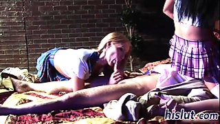Kinky threesome action with Cassie and Audrey