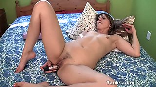 Sexy Girl Amber Playing With A Giant Toy