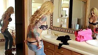 blonde tatooed bitch