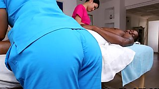 Sensual Asian massage turns into fuck fest with horny black guy