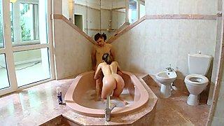 Busty teen loves bathroom sex
