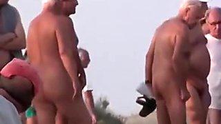 Voyeur tapes multiple nudist couples having sex at a nudist beach