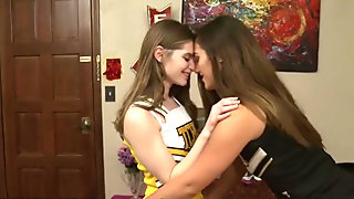 GirlfriendsFilms Chearleading Teens Make Lesbian Love