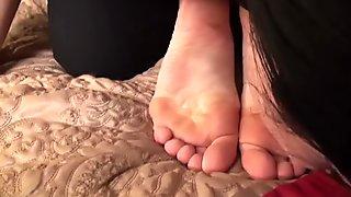 Yoga Class Foot Worship