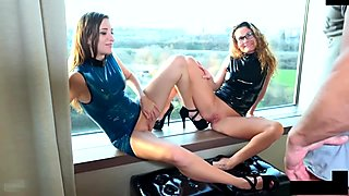 naughty-hotties.net - austrian chick latex dress threesome.mp4