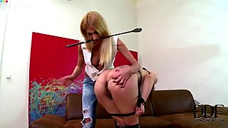 Buxom Asian girl is getting punished by her mistress