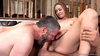 Husband Cleans the Pussy Juice Off Wife's Lover's Cock