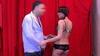 18yo lapdancer gets licking and fingering from older guy