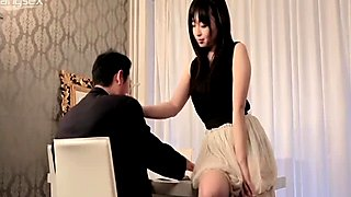 Mature guy is going to get a blowjob from sexy teen Nozomi Hazuki