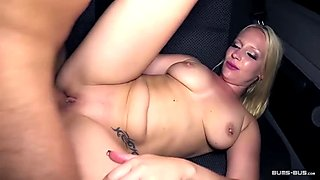 Bums Bus - Busty German blondie gets fucked in the bus