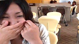 Ugly Japanese hoe masturbates on the street