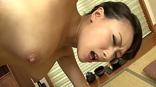 Horny dick hungry geisha Yayoi Yanagida gives a solid blowjob for cum