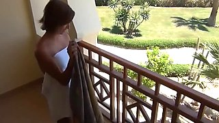 Hot German girl has sex on vacation with cumshot