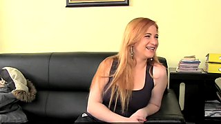 FemaleAgent. Busty plump redhead tries anal to impress agents
