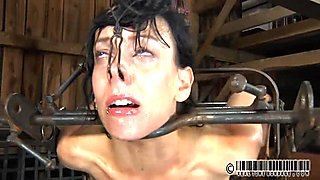 Tied up serf receives gratifying her wicked twat