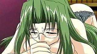 Pretty gal anime porn fuck in private library