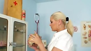 Chesty Alexa Bold big tits show in nurse uniform